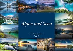 Alpen und Seen (Wandkalender 2019 DIN A2 quer) von Fischer,  Janina