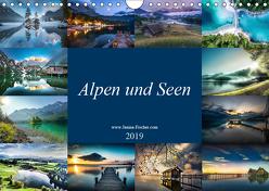 Alpen und Seen (Wandkalender 2019 DIN A4 quer) von Fischer,  Janina
