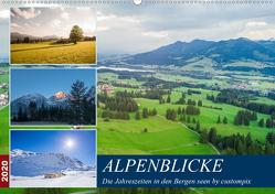 Alpenblicke (Wandkalender 2020 DIN A2 quer) von custompix.de