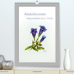 Alpenblumen Aquarelle aus Tirol (Premium, hochwertiger DIN A2 Wandkalender 2020, Kunstdruck in Hochglanz) von Überall,  Peter