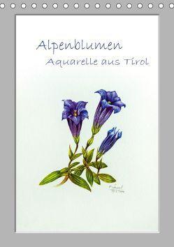Alpenblumen Aquarelle aus Tirol (Tischkalender 2019 DIN A5 hoch) von Überall,  Peter