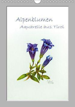 Alpenblumen Aquarelle aus Tirol (Wandkalender 2019 DIN A4 hoch) von Überall,  Peter