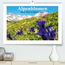 Alpenblumen. Bunte Welt in luftiger Höhe (Premium, hochwertiger DIN A2 Wandkalender 2020, Kunstdruck in Hochglanz) von Stanzer,  Elisabeth