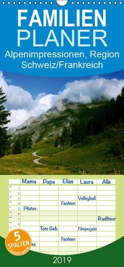 Alpenimpressionen, Region Schweiz/Frankreich – Familienplaner hoch (Wandkalender 2019 , 21 cm x 45 cm, hoch) von HM-Fotodesign