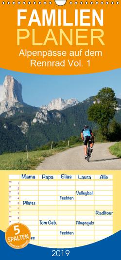 Alpenpässe auf dem Rennrad Vol. 1 – Familienplaner hoch (Wandkalender 2019 , 21 cm x 45 cm, hoch) von Rotter,  Matthias