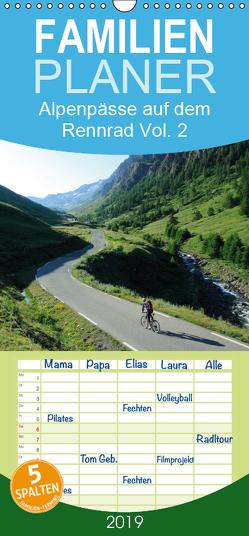Alpenpässe auf dem Rennrad Vol. 2 – Familienplaner hoch (Wandkalender 2019 , 21 cm x 45 cm, hoch) von Rotter,  Matthias