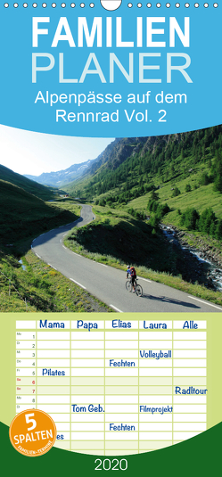 Alpenpässe auf dem Rennrad Vol. 2 – Familienplaner hoch (Wandkalender 2020 , 21 cm x 45 cm, hoch) von Rotter,  Matthias