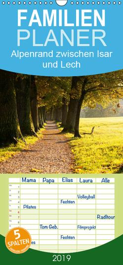 Alpenrand zwischen Isar und Lech – Familienplaner hoch (Wandkalender 2019 , 21 cm x 45 cm, hoch) von Knödler,  Stephan