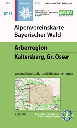 Alpenvereinskarte Bayerischer Wald, Arberregion, Kaitersberg, Osser von Deutscher Alpenverein e.V.