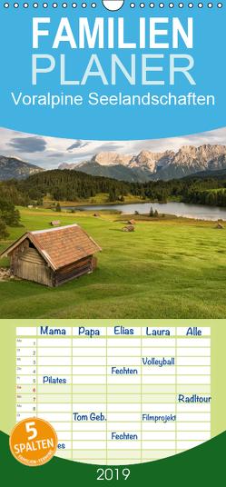 Alpine Seelandschaften – Familienplaner hoch (Wandkalender 2019 , 21 cm x 45 cm, hoch) von Bremser,  Christian