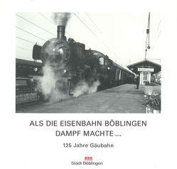 Als die Eisenbahn Böblingen Dampf machte von Scholz,  Günter, Vogelgsang,  Alexander, Wenzel,  Cornelia