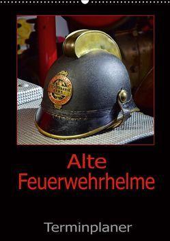 Alte Feuerwehrhelme – Terminplaner (Wandkalender 2019 DIN A2 hoch) von Laue,  Ingo