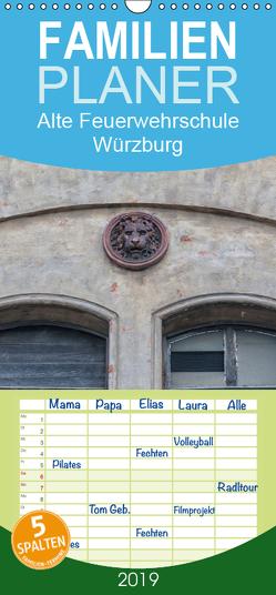 Alte Feuerwehrschule Würzburg – Familienplaner hoch (Wandkalender 2019 , 21 cm x 45 cm, hoch) von Will,  Hans
