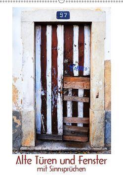 Alte Türen und Fenster mit Sinnsprüchen (Wandkalender 2019 DIN A2 hoch) von Blaes,  Renate, Meinen,  Friedel