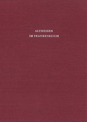 Althessen im Frankenreich von Schlesinger,  Walter
