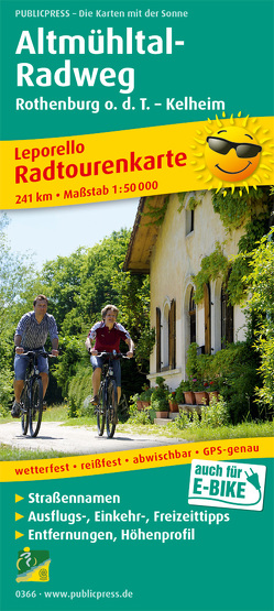 Altmühltal-Radweg, Rothenburg o. d. T. – Kelheim