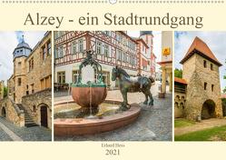 Alzey – ein Stadtrundgang (Wandkalender 2021 DIN A2 quer) von Hess,  Erhard, www.ehess.de