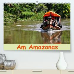 Am Amazonas (Premium, hochwertiger DIN A2 Wandkalender 2021, Kunstdruck in Hochglanz) von Lindner,  Ulrike