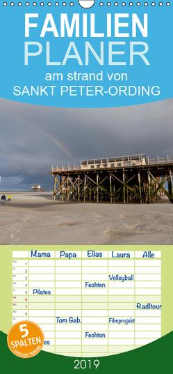 am strand von SANKT PETER-ORDING – Familienplaner hoch (Wandkalender 2019 , 21 cm x 45 cm, hoch) von Drefahl,  Björn
