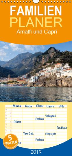 Amalfiküste und Capri – Familienplaner hoch (Wandkalender 2019 , 21 cm x 45 cm, hoch) von Kruse,  Joana