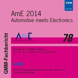 AmE 2014 von VDI-Gesellschaft Mikroelektronik,  Mikrosystem- und Feinwerktechnik