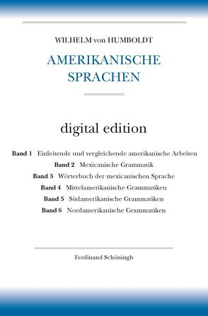 Amerikanische Sprachen von Ringmacher,  Manfred, Tintemann,  Ute, von Humboldt,  Wilhelm