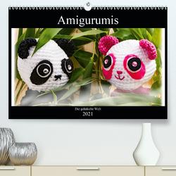 Amigurumi – Die gehäkelte Welt (Premium, hochwertiger DIN A2 Wandkalender 2021, Kunstdruck in Hochglanz) von Sommer,  Sven