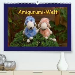 Amigurumi-Welt (Premium, hochwertiger DIN A2 Wandkalender 2021, Kunstdruck in Hochglanz) von Schneller,  Helmut