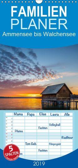 Ammersee bis Walchensee – Traumlandschaften im Voralpenland – Familienplaner hoch (Wandkalender 2019 , 21 cm x 45 cm, hoch) von Feiner,  Denis