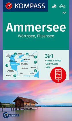 Ammersee, Wörthsee, Pilsensee von KOMPASS-Karten GmbH