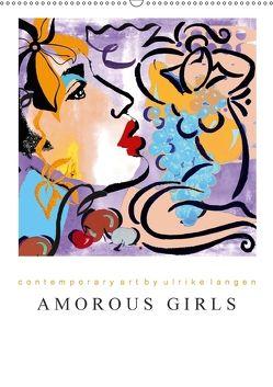 AMOROUS GIRLS (Wandkalender 2018 DIN A2 hoch) von Langen,  Ulrike
