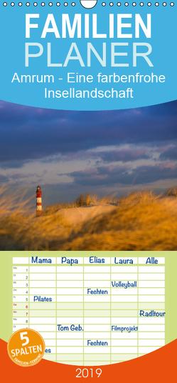 Amrum – Eine farbenfrohe Insellandschaft – Familienplaner hoch (Wandkalender 2019 , 21 cm x 45 cm, hoch) von Koch - Siko-Fotomomente.de,  Silke