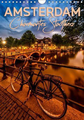 AMSTERDAM Charmantes Stadtherz (Wandkalender 2019 DIN A4 hoch) von Viola,  Melanie