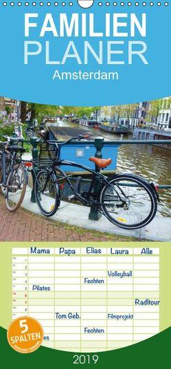 Amsterdam – Familienplaner hoch (Wandkalender 2019 , 21 cm x 45 cm, hoch) von Juretzky,  Ute
