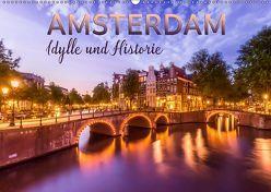 AMSTERDAM Idylle und Historie (Wandkalender 2019 DIN A2 quer) von Viola,  Melanie