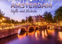 AMSTERDAM Idylle und Historie (Wandkalender 2019 DIN A3 quer) von Viola,  Melanie