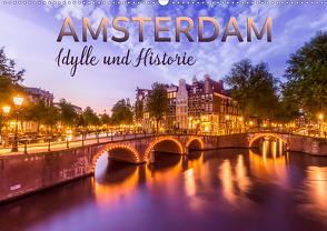 AMSTERDAM Idylle und Historie (Wandkalender 2020 DIN A2 quer) von Viola,  Melanie
