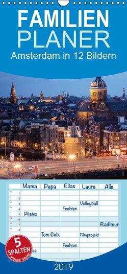 Amsterdam in 12 Bildern – Familienplaner hoch (Wandkalender 2019 , 21 cm x 45 cm, hoch) von Darren