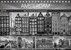 AMSTERDAM Monochrome Impressionen (Tischkalender 2019 DIN A5 quer) von Viola,  Melanie