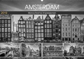 AMSTERDAM Monochrome Impressionen (Wandkalender 2019 DIN A2 quer) von Viola,  Melanie