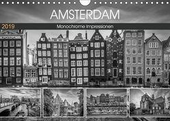 AMSTERDAM Monochrome Impressionen (Wandkalender 2019 DIN A4 quer) von Viola,  Melanie