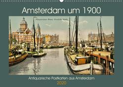 Amsterdam um 1900 (Wandkalender 2020 DIN A2 quer) von Siebert,  Jens
