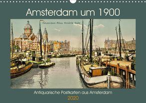 Amsterdam um 1900 (Wandkalender 2020 DIN A3 quer) von Siebert,  Jens