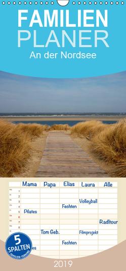 An der Nordsee – Familienplaner hoch (Wandkalender 2019 , 21 cm x 45 cm, hoch) von kattobello