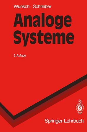 Analoge Systeme von Schreiber,  Helmut, Wunsch,  Gerhard