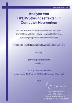 Analyse von HPEM-Störungseffekten in Computer-Netzwerken von Kreitlow,  Matthias