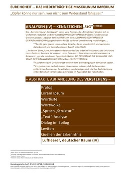 """ANALYSEN / EURE HOHEIT … DAS NIEDERTRÄCHTIGE MASKULINUM IMPERIUM – ANALYSEN (IV) – KENNZEICHEN """"StG"""" von Deutschland,  (SP: D) Sozialkritische Professionals:, Faust,  C. M."""