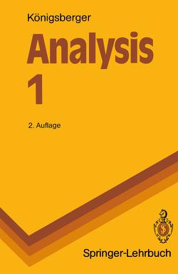 Analysis 1 von Königsberger,  Konrad