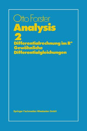 Analysis 2 von Forster,  Otto