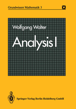 Analysis I von Walter,  Wolfgang